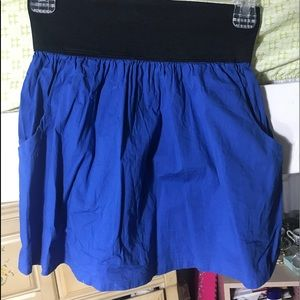 Bright Blue Pencil Skirt w/ Pockets